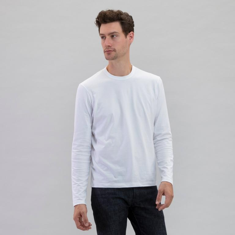 Long Sleeve Crew White