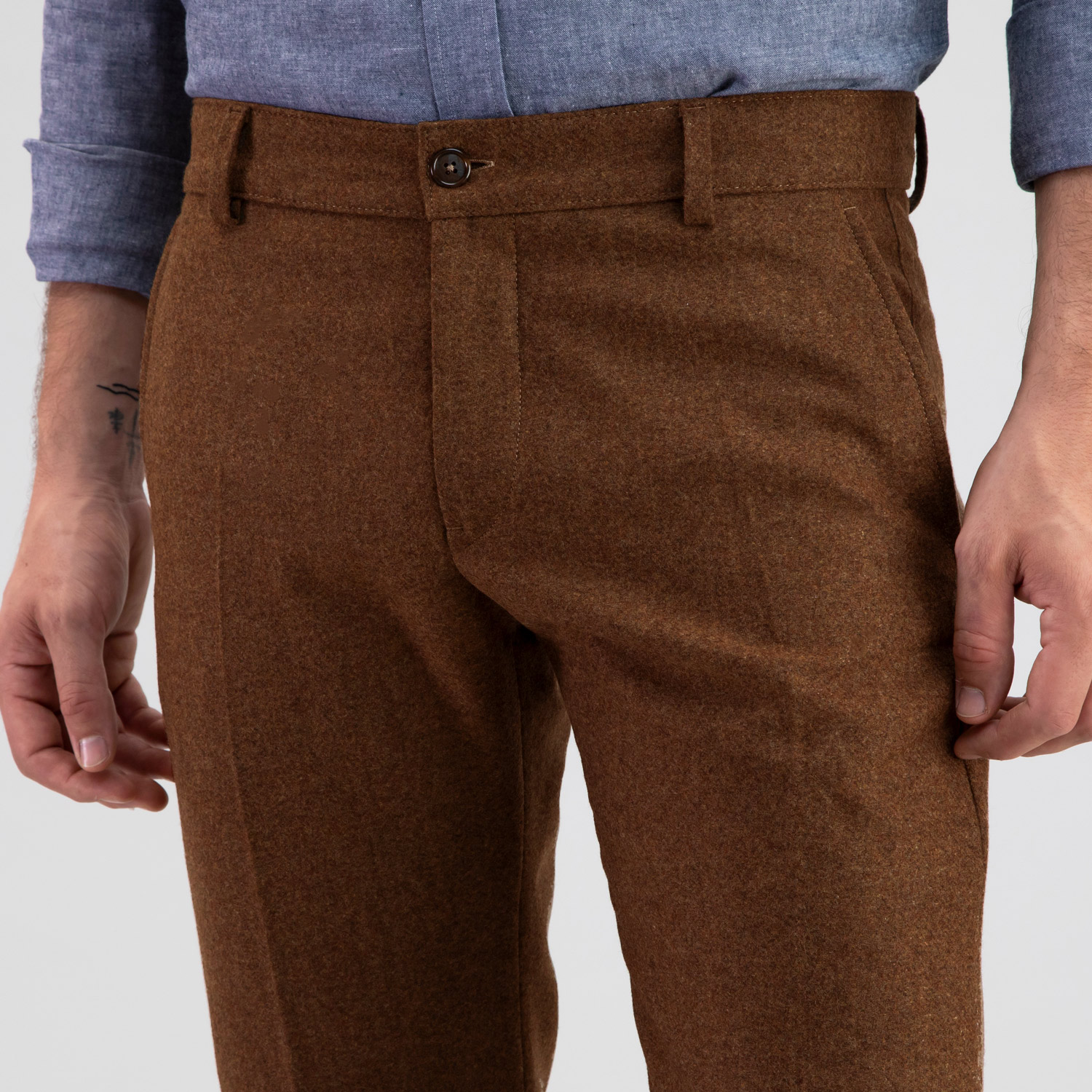 Flannel Wool Trouser Rust