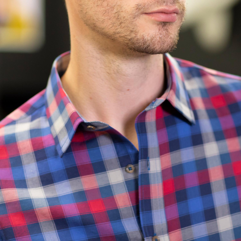 Blue Box Plaid Shirt FC