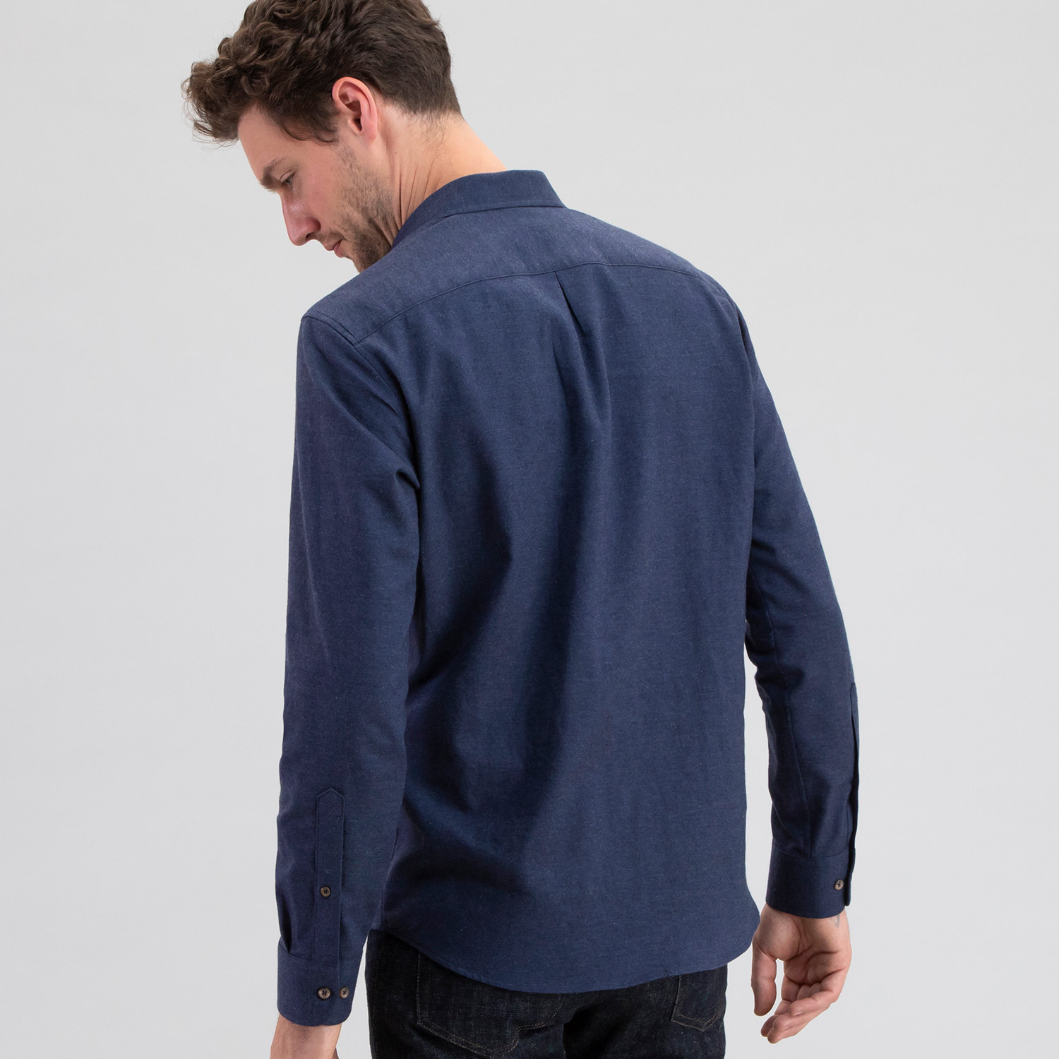 Cotton Cashmere Heather Navy