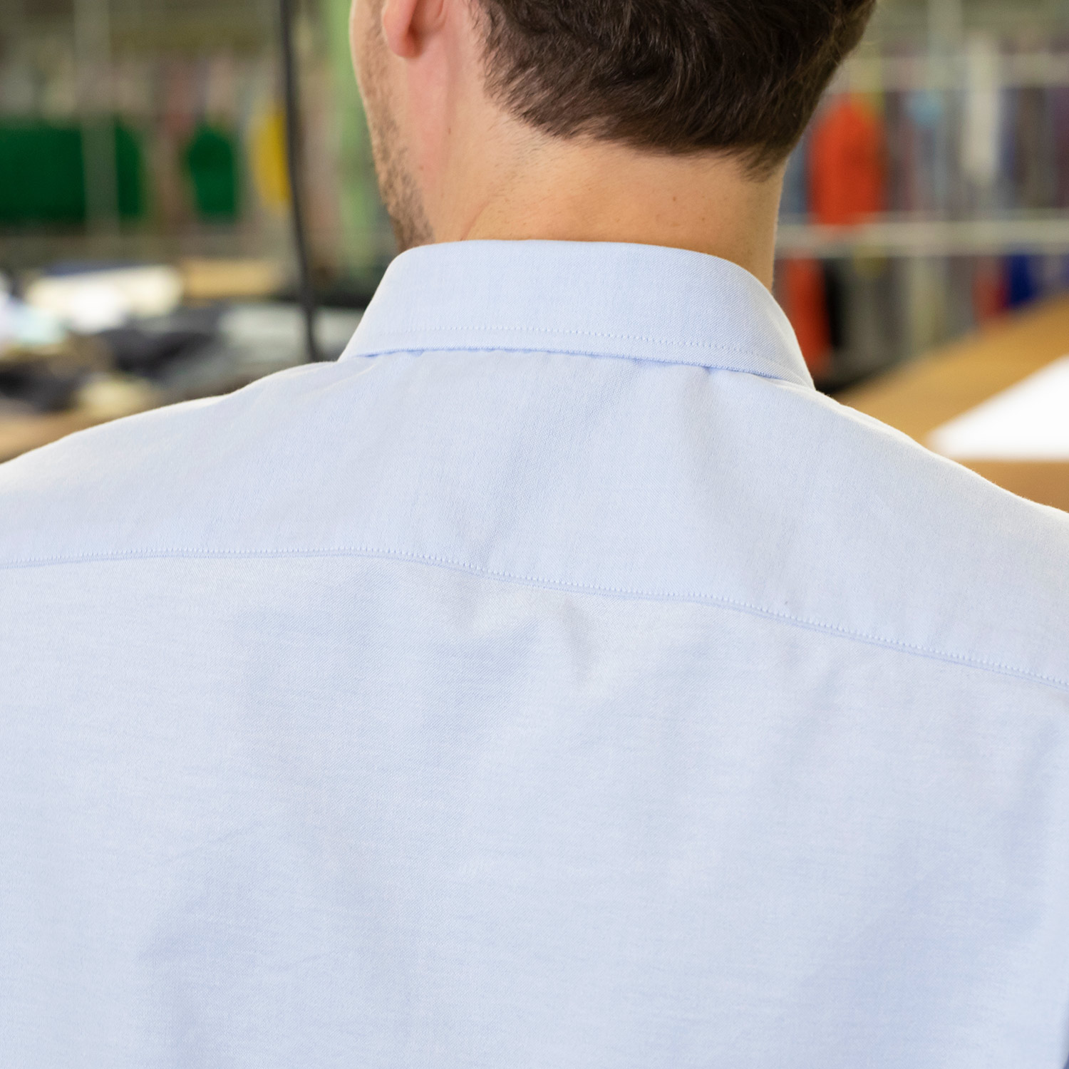 Factory Clean Out / Stretch Blue Oxford Shirt