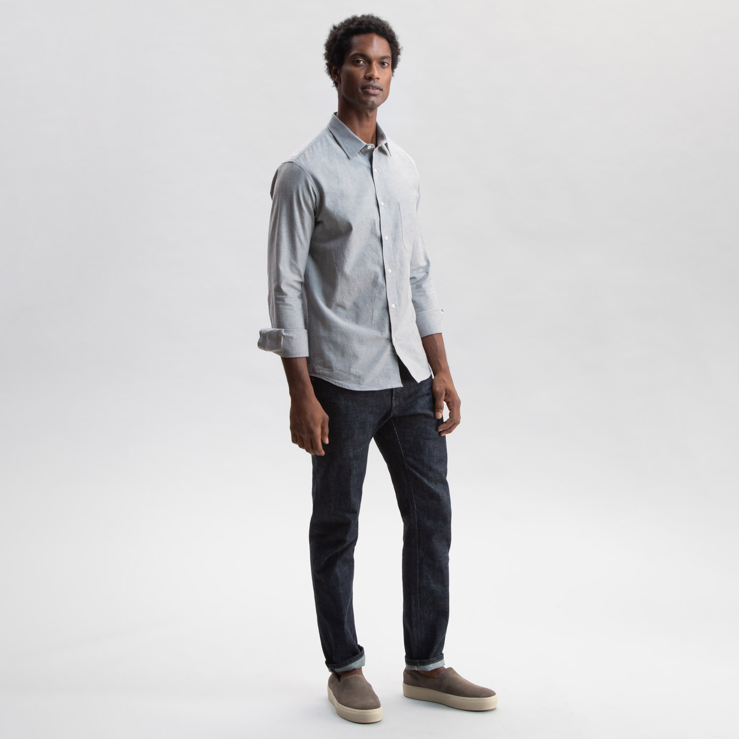 Go West Chambray Charcoal