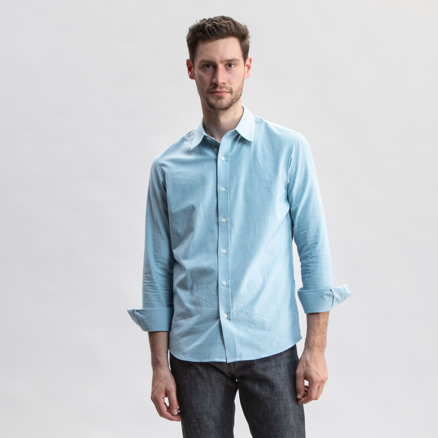Go West Chambray Patina Blue