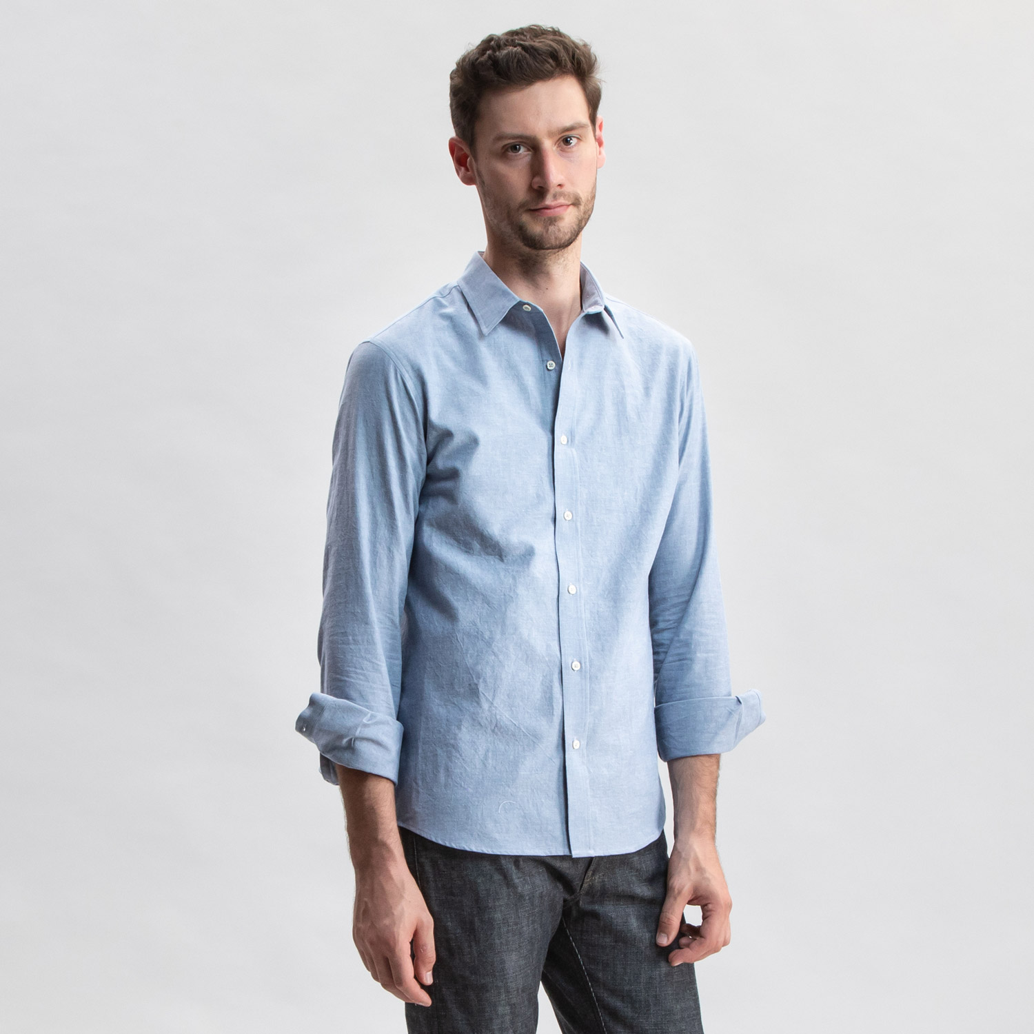 Go West Chambray Western Blue