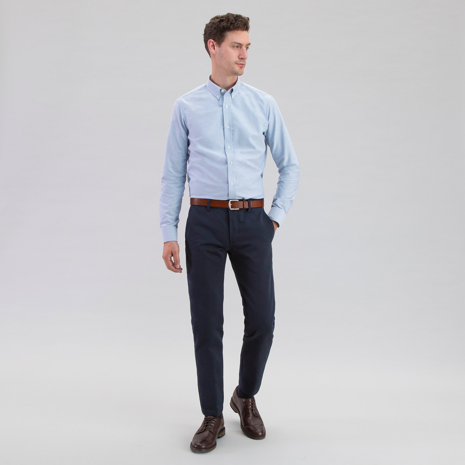 Jim Dandy Oxford Vintage Blue