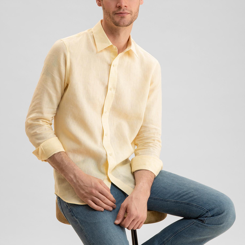 Linen Shirt Pale Yellow