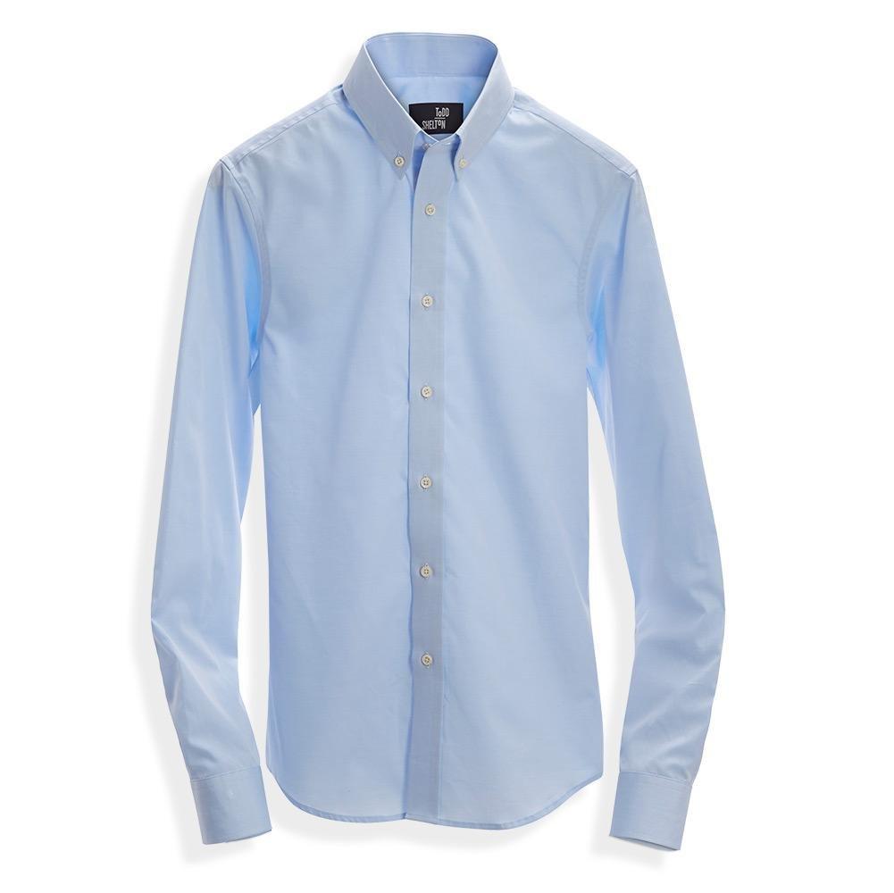 Standard Poplin Shirt Blue Todd Shelton