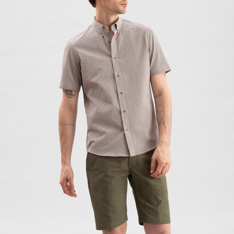 Seersucker Shirt Rust Check