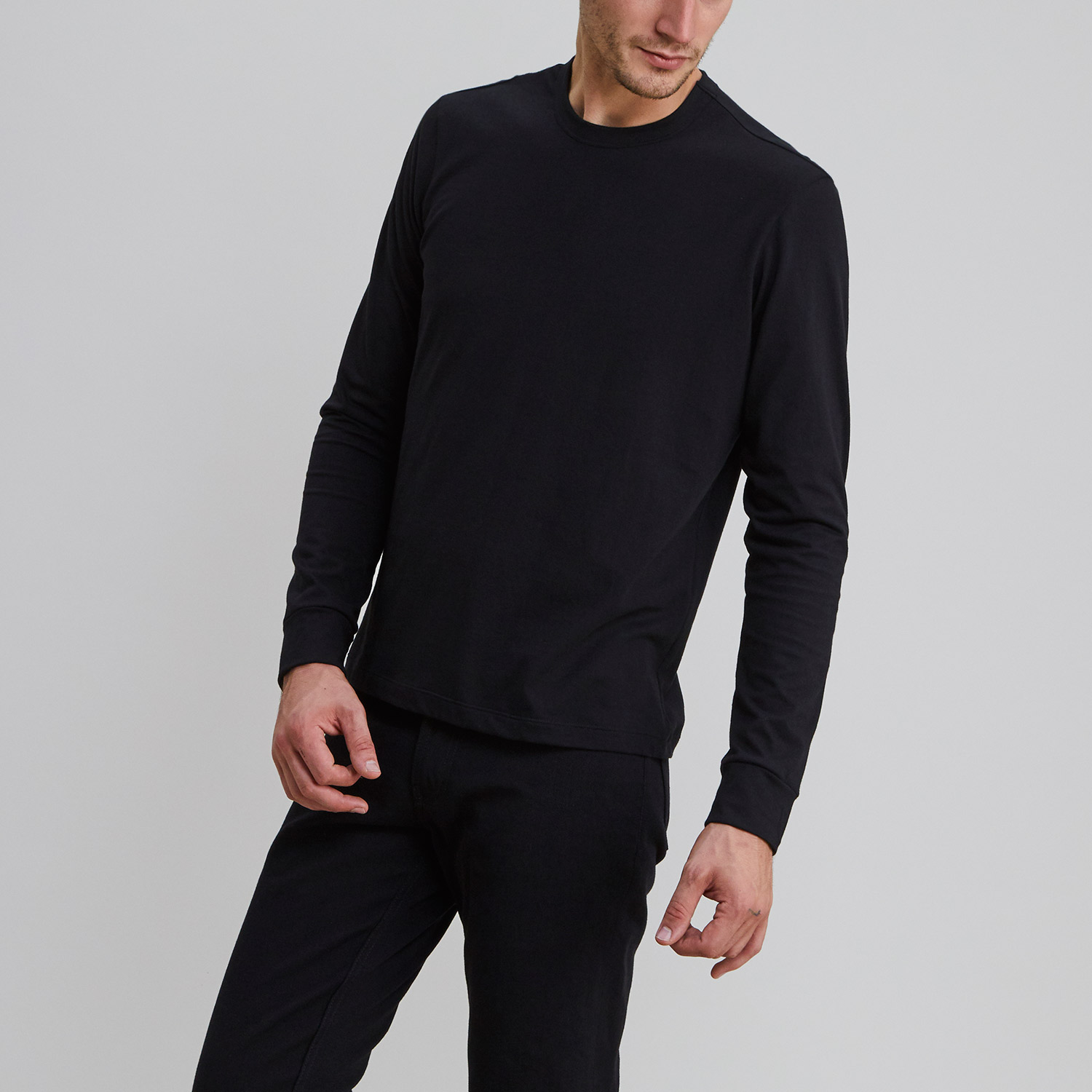 Long Sleeve Crew Black