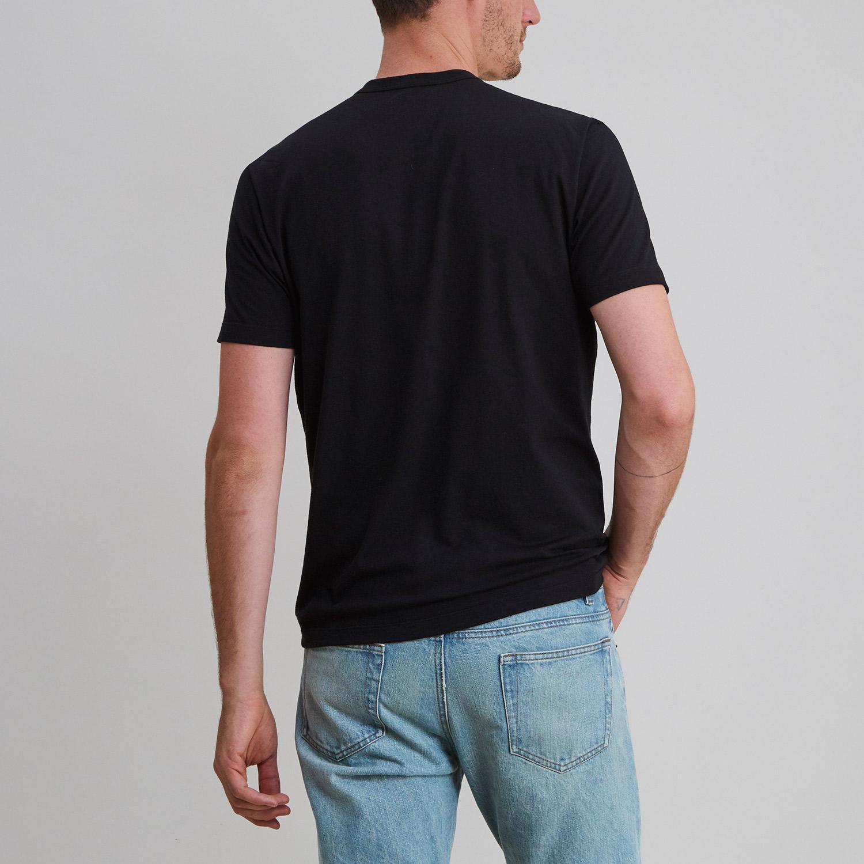 Short Sleeve Crew Black
