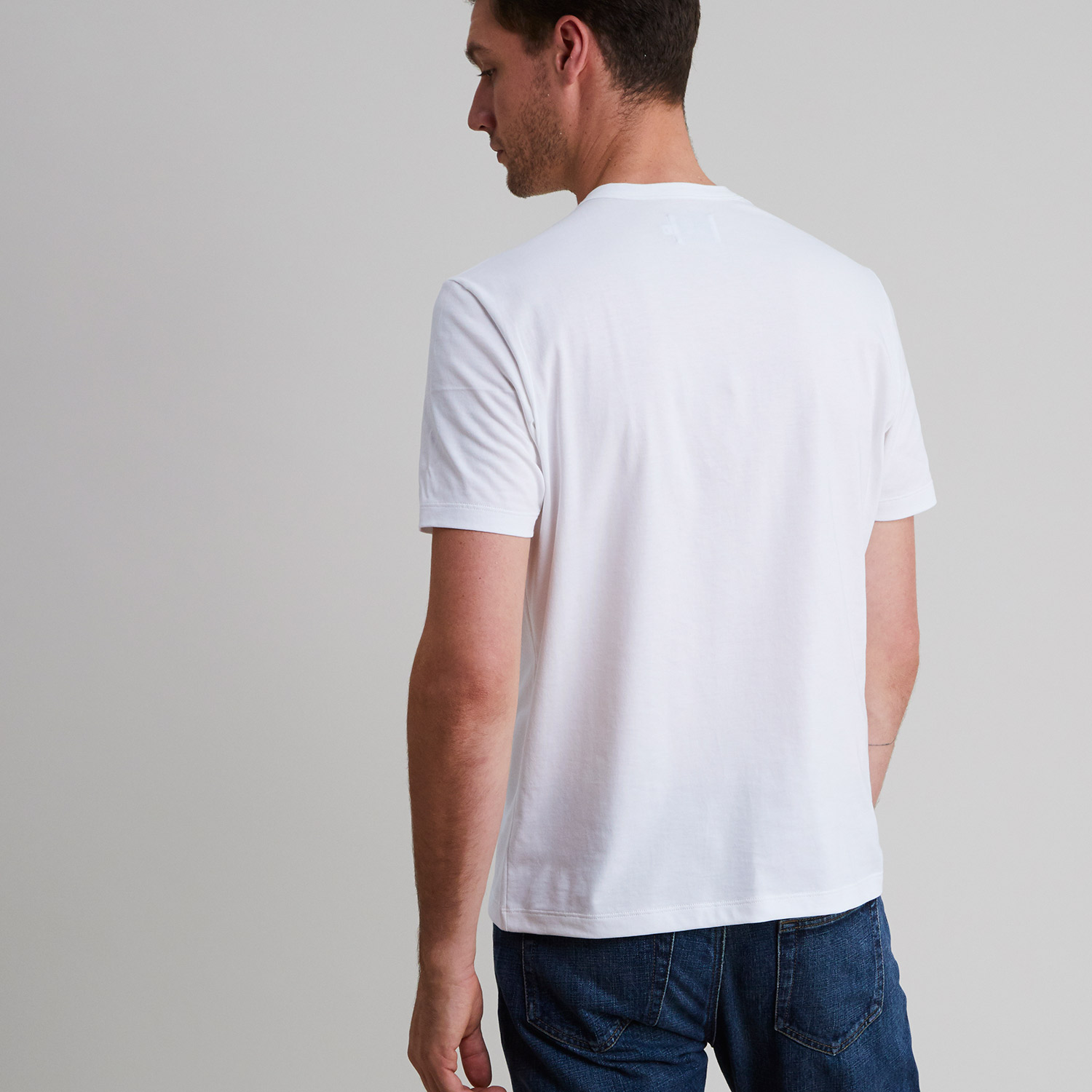 Short Sleeve Crew White