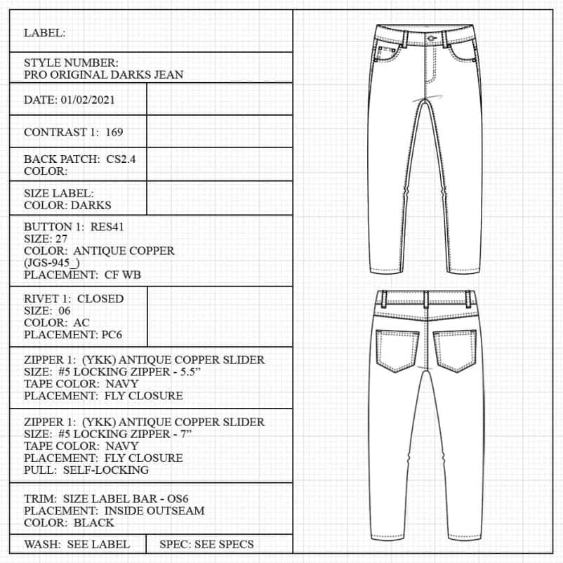 Jean measuring guide