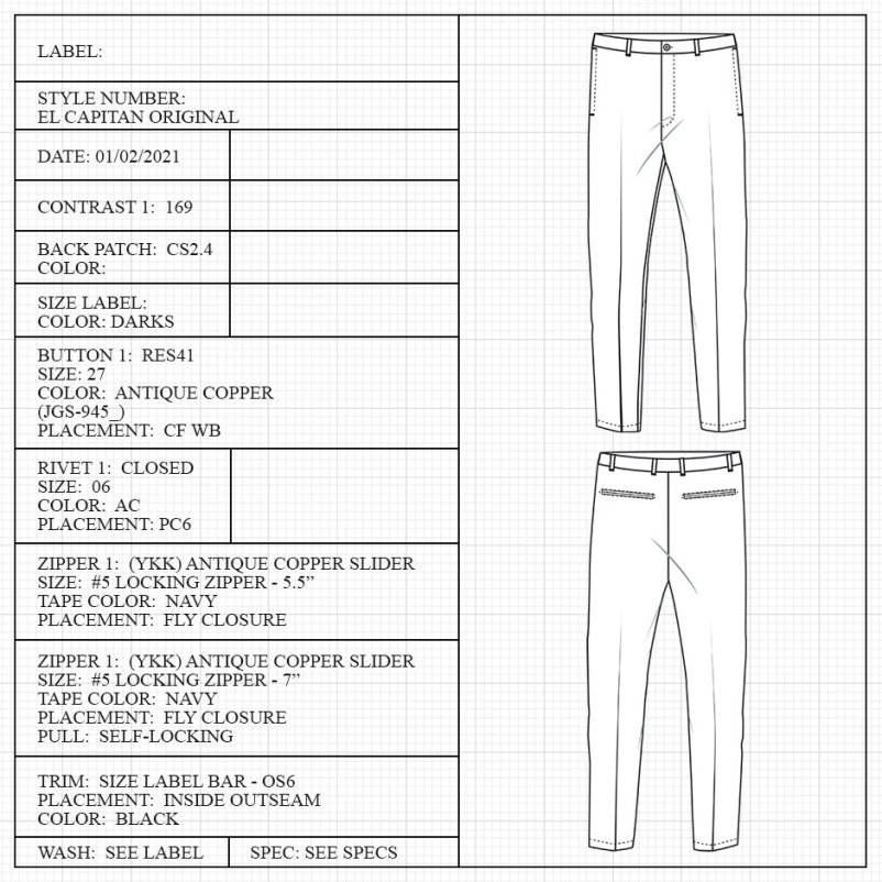 Pant measuring guide