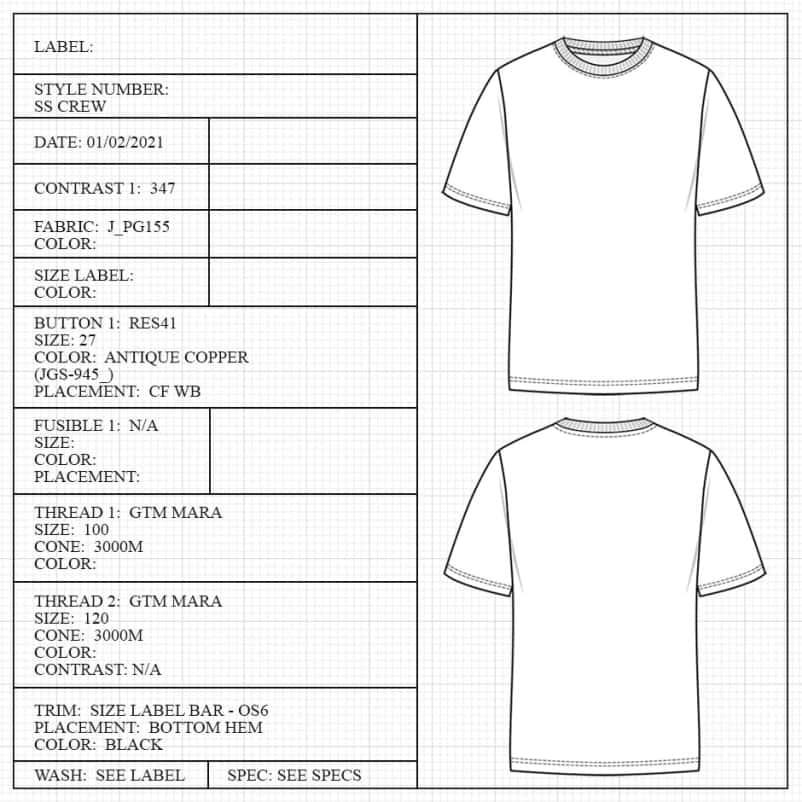 T-shirt measuring guide
