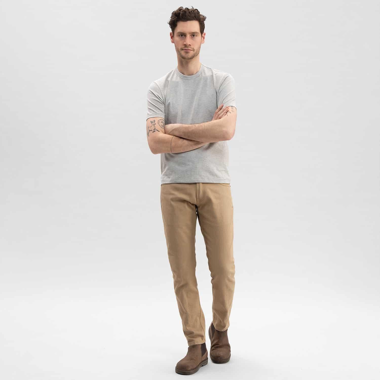 Tan Selvedge Jeans