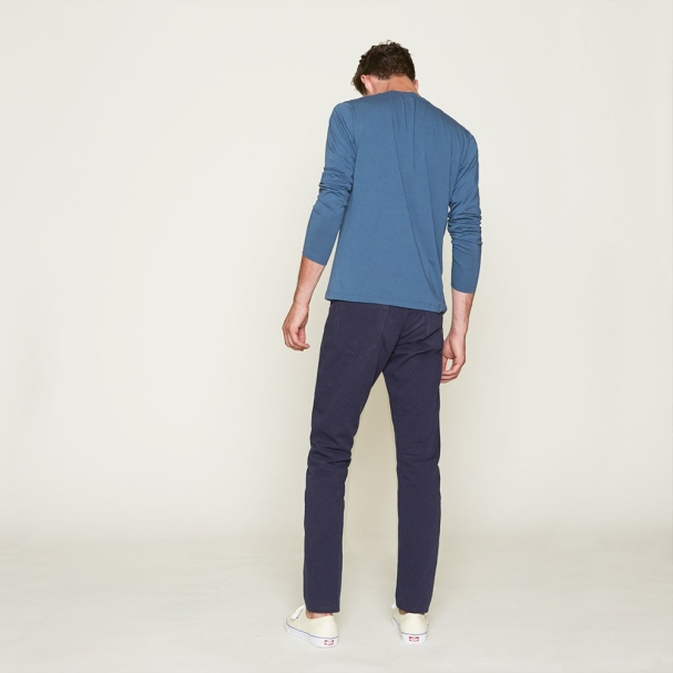 Todd Shelton Flat Selvedge Navy Jean with Henley