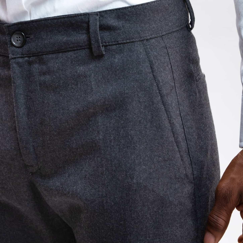Flannel Wool Trouser Medium Grey