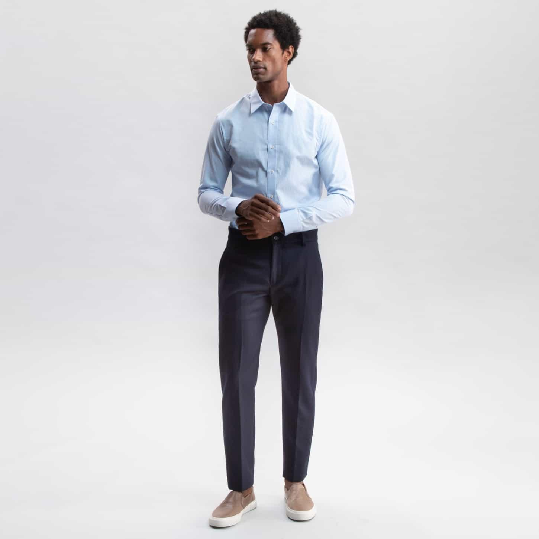 Flannel Wool Trouser Navy