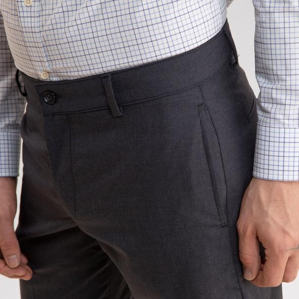 Lightweight Wool Trouser Navy/Grey