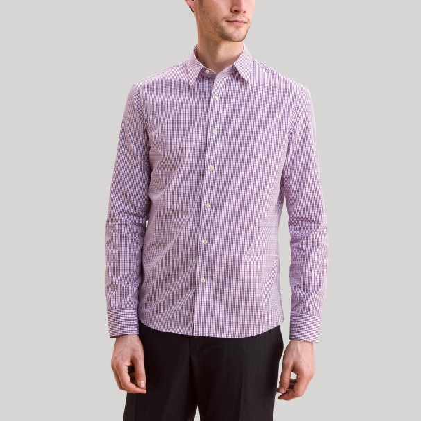 Men's Purple Check Shirt
