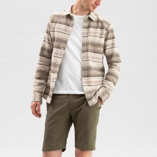 Baja Cotton Overshirt Brown Stripe