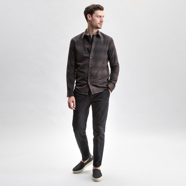 Brown Plaid Flannel