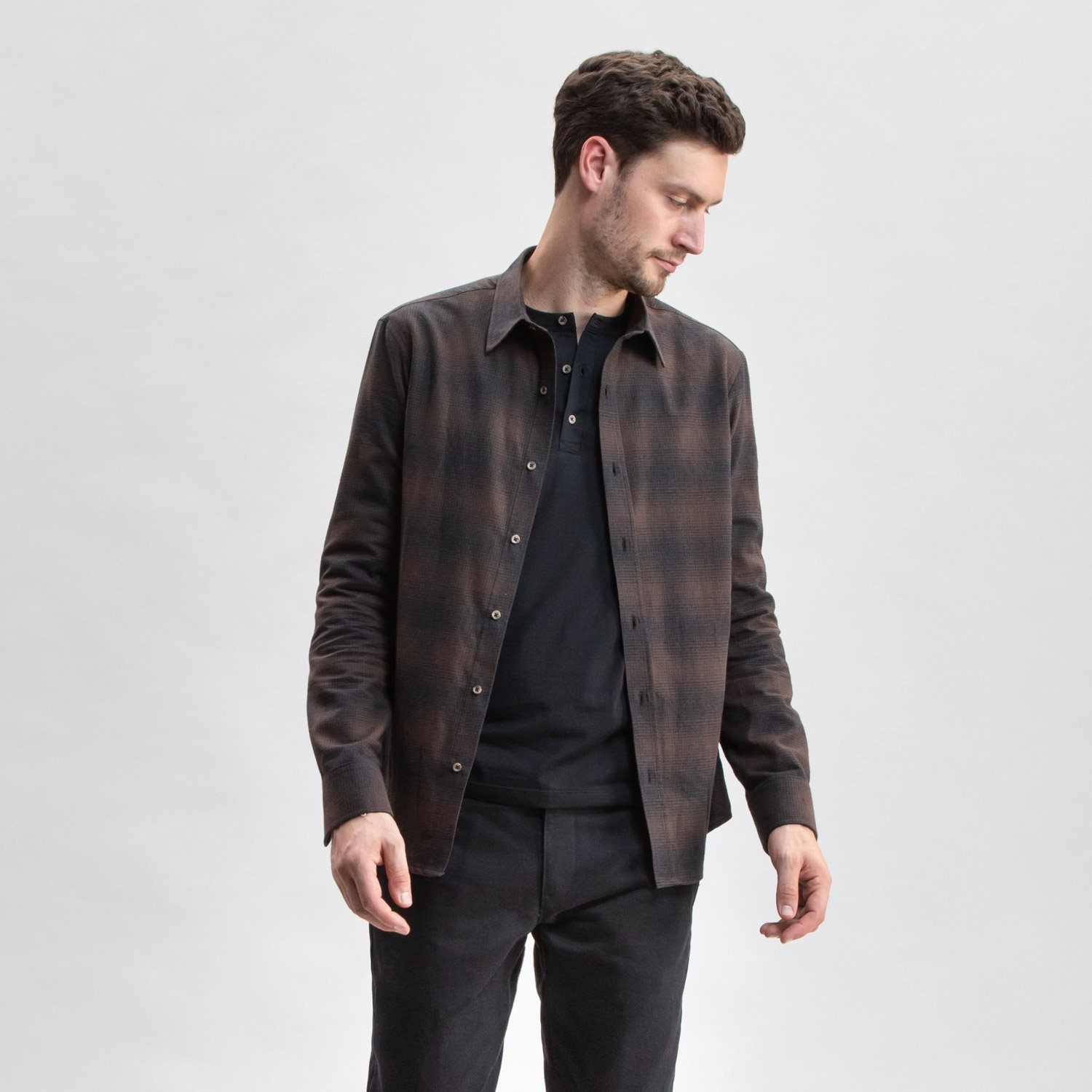 Brown Plaid Flannel