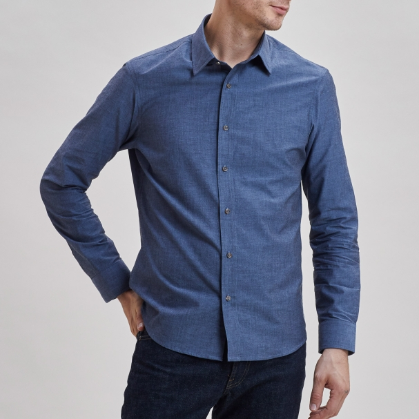 Chambray Shirt Navy