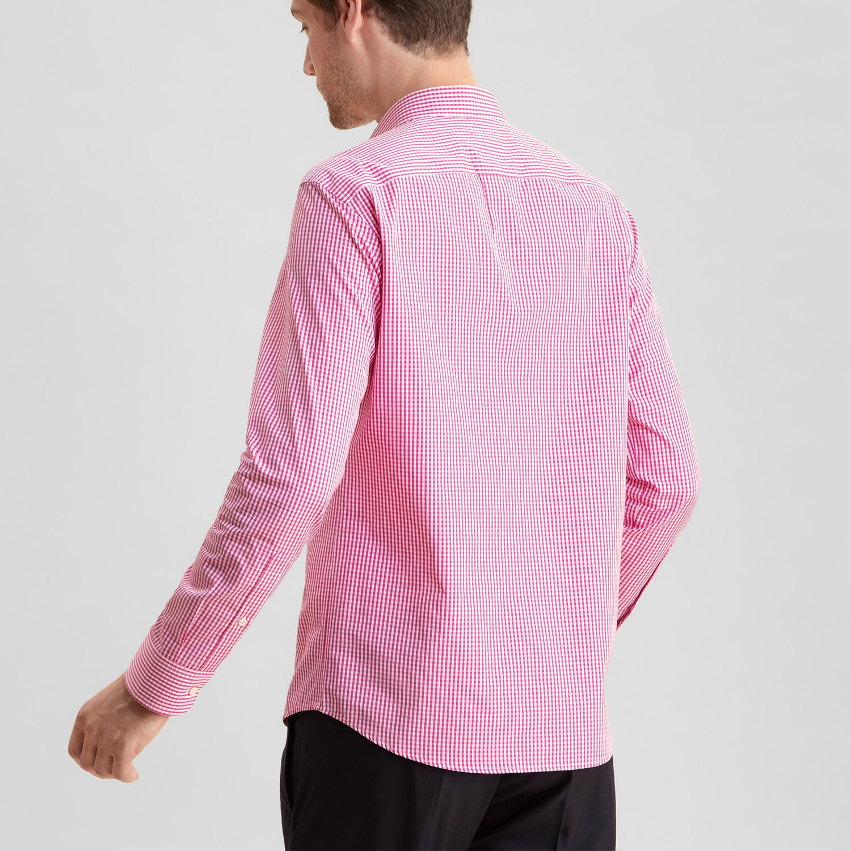 Standard Poplin Deep Pink Gingham