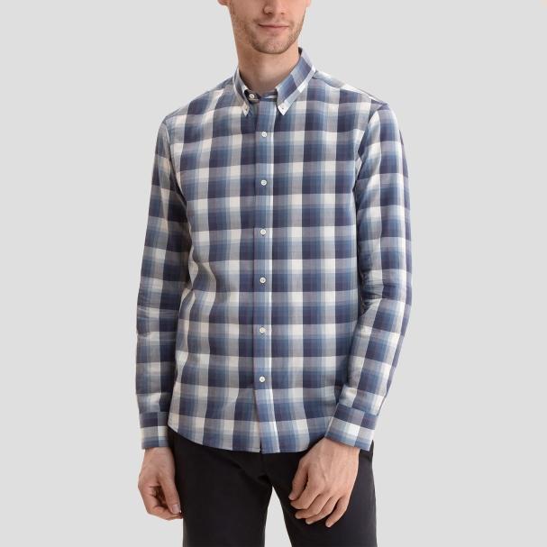 Chambray Shirt Blue Plaid