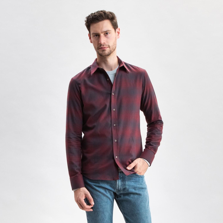 Maroon Plaid Flannel