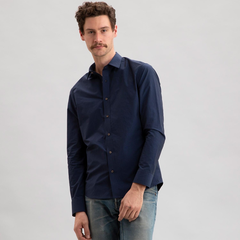 Paper Poplin Navy Shirt