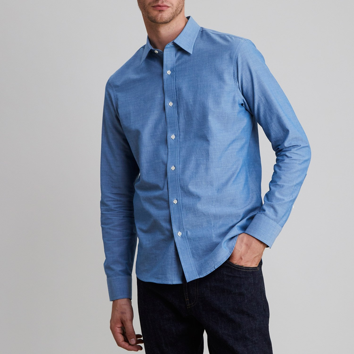 Chambray Shirt Western Blue