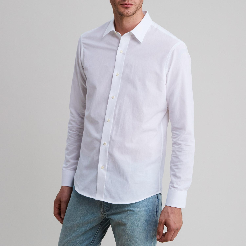 Chambray Shirt White