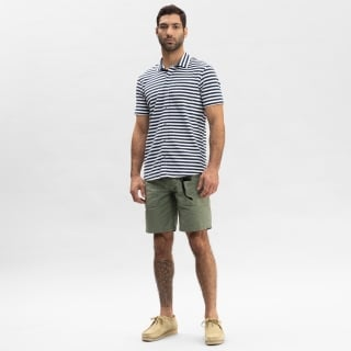 Breton Stripe Button Shirt