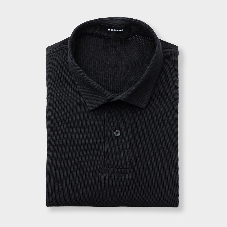 Pique Polo Black