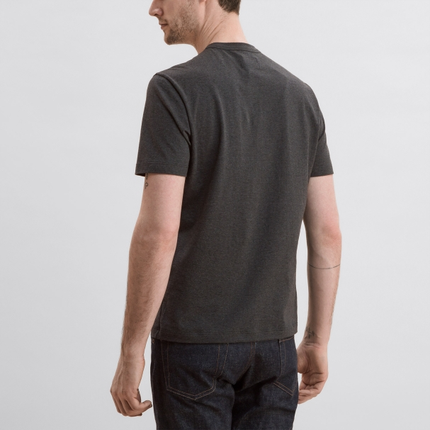 Short Sleeve Crew Heather Charcoal